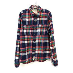 Abercrombie & Fitch Mens Rainbow Flannel Shirt